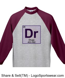 Drugs 3/4 Sleeve Jersey Design Zoom